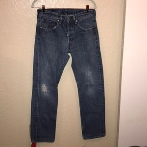 "501's jeans with wear on the knees w31"" l34"""